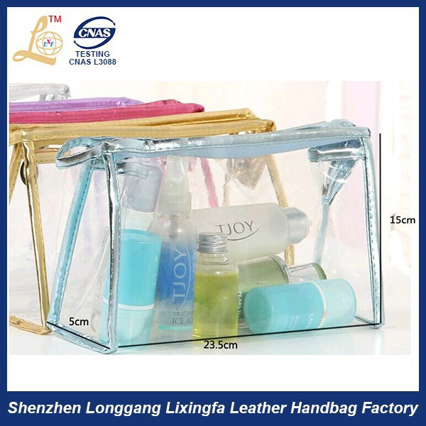 Promotional cheap personalized pvc packing bag /pvc mini cosmetic pouch