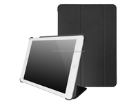 Black leather case for ipad air, flip cover for ipad air2