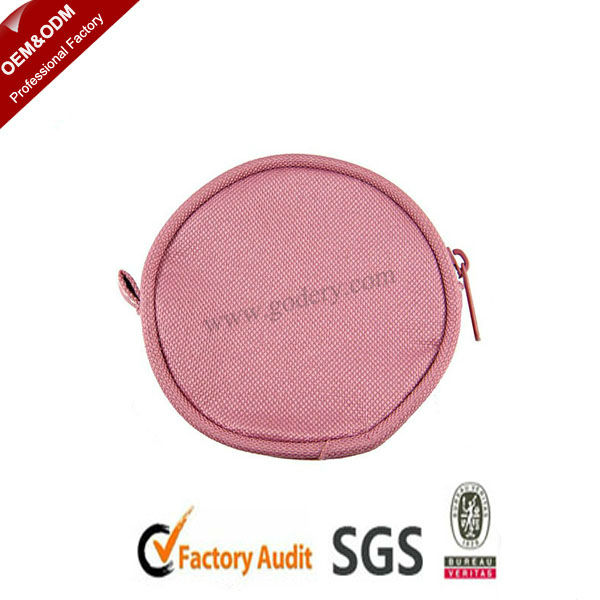 Round pink purse for laidies