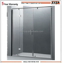 Solid aluminum alloy folding glass shower screen(Crystal-G)