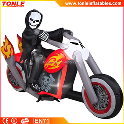 Halloween decoration Inflatable Grim Reaper's Chopper for sale