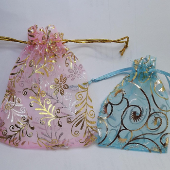 Mini shinning party favor candy gift organza pouch bags