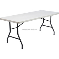 6ft Granite White Plastic Folding Table For Outdoor And Indoor Use,Plastic Rectangular Folding Table