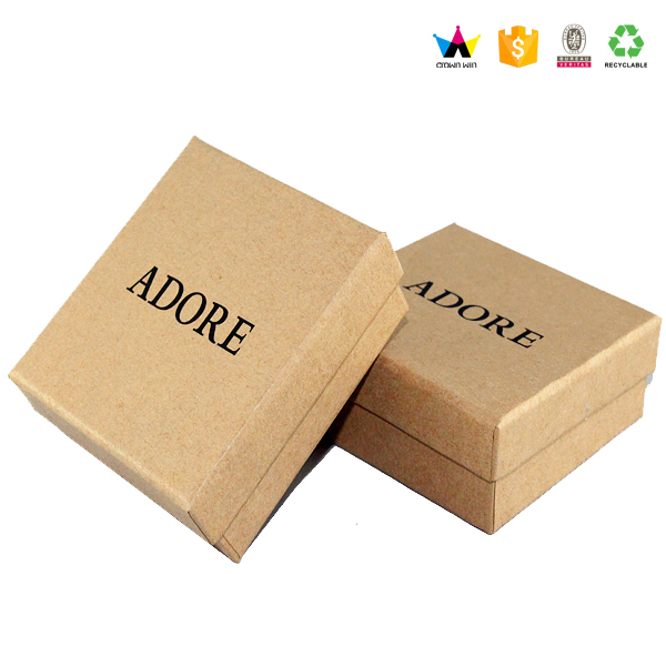 2017 Custom Sturdy Kraft Paper Gift Boxes With Lid