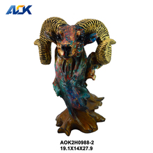 Factory Supply Home Decor Skull Wall Mounted Sheep Animal Head