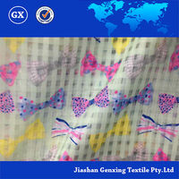 High quality best price digital print fabric bow print made in china
