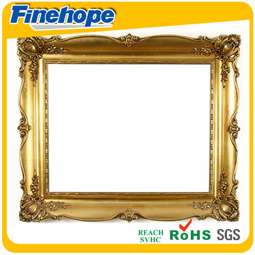 2014 sweet pu classical gold small antique photo frames
