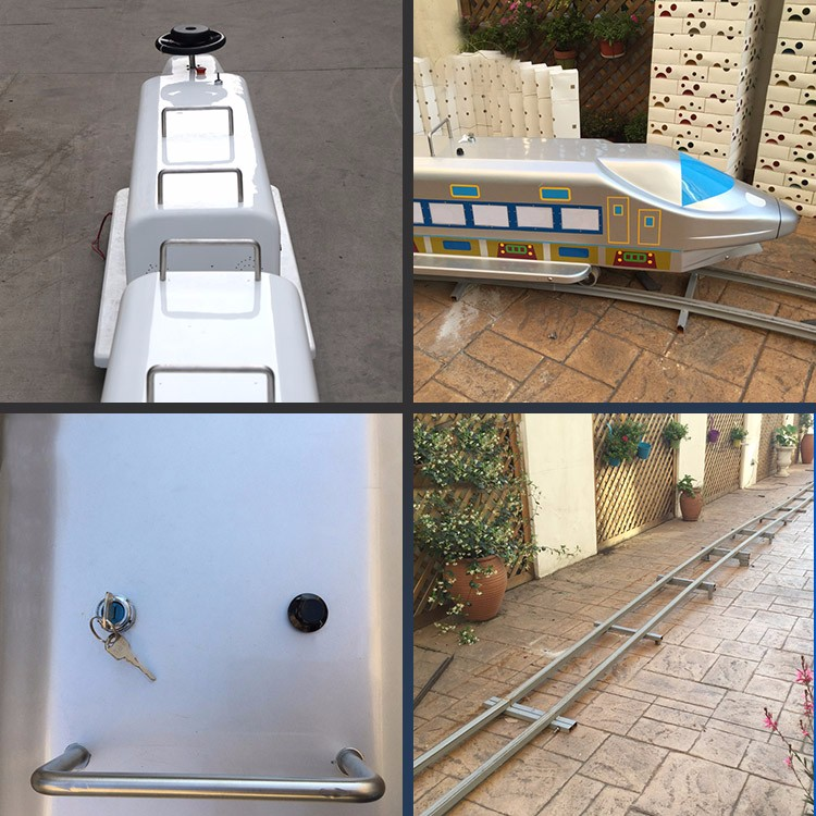 Fiberglass body shinkansenkids amusement park track train for sale