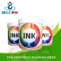 Wear-resistant solvent based screen printing ink