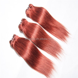 26 Inch Virgin Remy Distributor Wanted Cheap Favor Hair Extensions Dropshipping, Brazilian Red Remy Hair Extensions