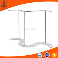 metal cloth stand display/cloth rack display/clothes hanging stand