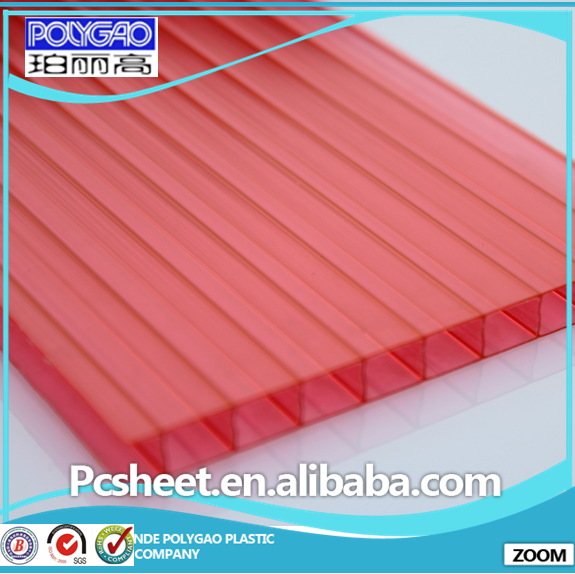 grade A polycarbonate sheet twin wall hollow panel hollow plastic sheet
