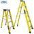 Hot sale 4 steps double side good performance fiberglass ladder