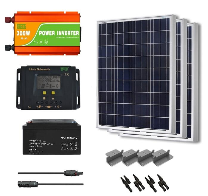new 300w home solar energy systems solar panel solar inverter 300w