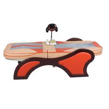 Electric chiropractic spine vibration massage beauty bed