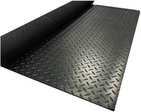 Elastic Shockproof industrial anti-slip diamond rubber sheet