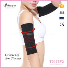 2016 New Style Red Youth Compression Nylon Spandex Slimming Unisex Arm Sleeve
