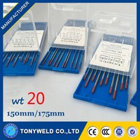 TIG welding 2% Thoriated 3.0*150mm red tungsten electrode for TIG welding machines