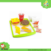 Popular Food Toys Fast Food Dinner Play Set, Kids Wooden Kitchen Toy
