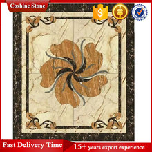 Building natural stone water jet marble floor medallion