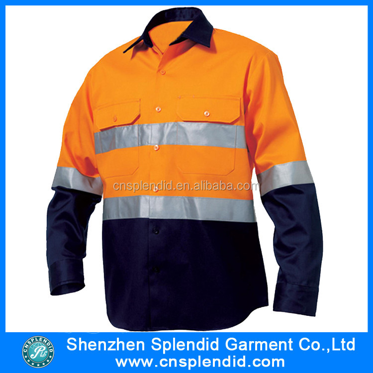 Custom outdoor cotton fire retardant safety work shirt