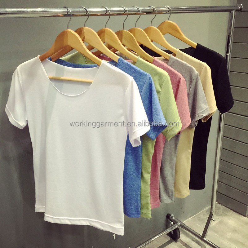Summer Fashion Sling Short-Sleeved Men Plain Cotton Spandex Round Neck Sports T-Shirt