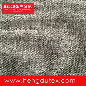 100% Polyester PU Coated 600D Imitation Linen Look Cation Fabric For Cosmetic Backpack Car Cushion