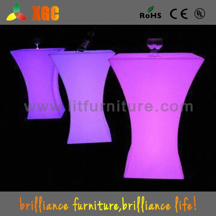 Beer set table and chairs,outdoor high top bar tables,led light bars