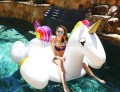 2018 giant pvc inflatable unicorn float toy swimming pool float infaltable unicorn float row for ride in stock