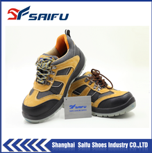 safety working shoes SF19001 wholesale leather work boot in rubber outsole steel toe cap and steel plate work shoes