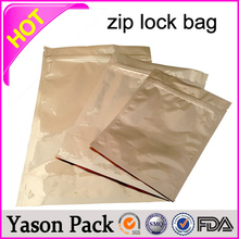 YASON shinning blue red ziplock stand up bottom bags printing front clear and back foil ziplock bag and foil