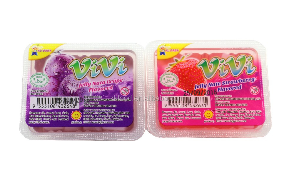 Fruity flavor fruit jelly snack / coconut flavored gummy candy