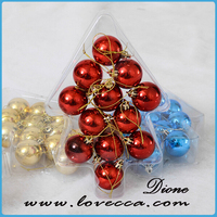novelty christmas tree baubles palstic ball//christmas clear plastic balls