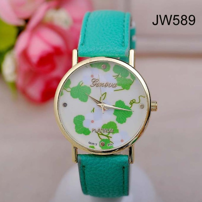 New Arrival flower Skull GENEVA Watches hot selling For Women men unisex Dress Watches Quartz Watch