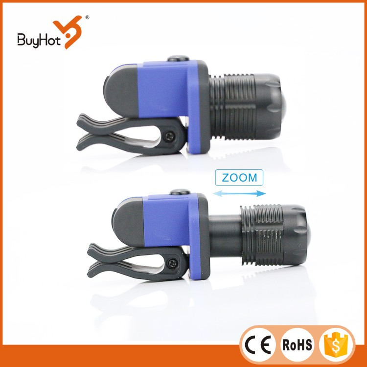 Hot sale 3W LED aluminium cap light, can be clipped anywhere that can be clipped, zoom function, high, low and flashing, 3xLR44