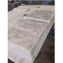 Translucent white crystal stone for interior decorate