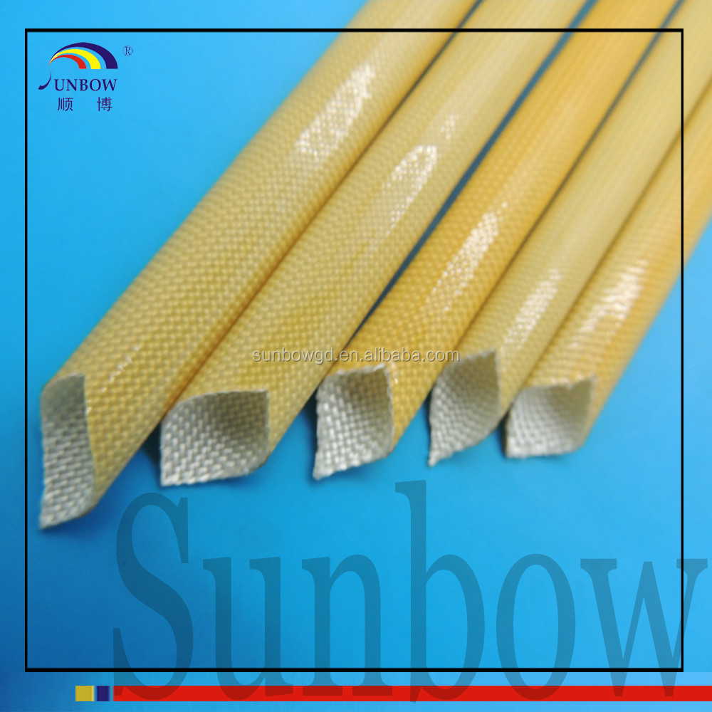 Wear reistance High temperature Polyurethane Fiberglass Insulation Sleeving For wire harness#SB-PUGS