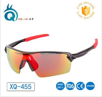 Factory Custom bicycle glasses mens sports sun glasses Polycarbonate / TAC cat 3 uv400 sunglasses