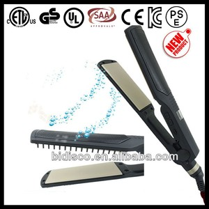 Quality products new professional electric 450 degree hair straightener flat iron with removable comb on one side