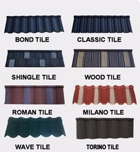 JINHU color stone coated metal roofing tiles