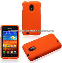 Orange Hard Skin For Samsung Galaxy SII Epic touch 4G D710 Painted Mobile Case