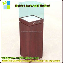 China manufacturer custom glass shelf store mobile phone shop display counter showcase, cell phone kiosk showroom design