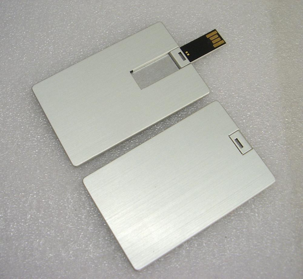 White Credit Card Shaped USB Pen Drive,USB in Credit Card Format ,Free sample