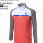 New style micro elastic and breathable long sleeves custom logo mens golf polo T shirt