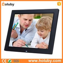 14 Inches Multi Function LCD Display HD Resolution Black Super Slim Digital Photo Frame with Remote Control