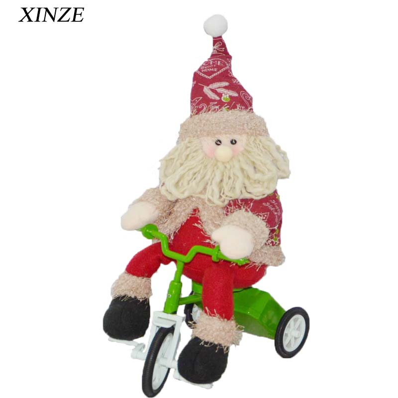 Polyester Animated Musical Moving battery santa claus In European Market