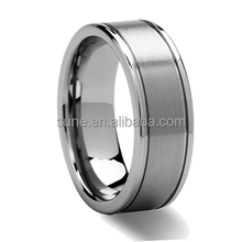 Fashion Thin Line Tungsten Ring Wedding Brand 8MM Tungsten Carbide Rings for Men Jewelry
