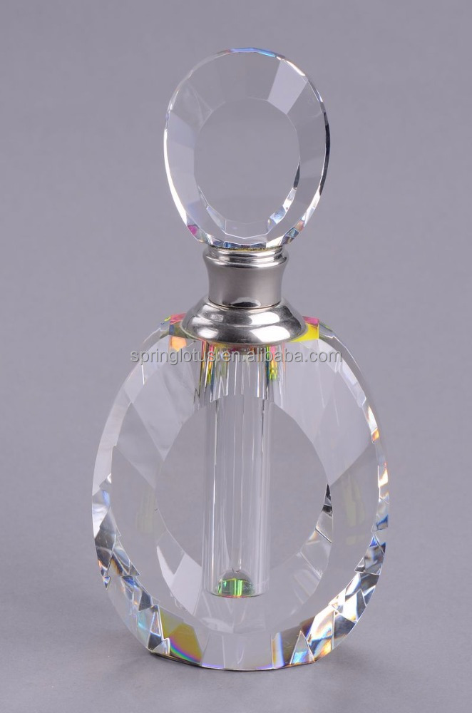 Wedding Clear Optical Crystal Glass Perfume Bottles