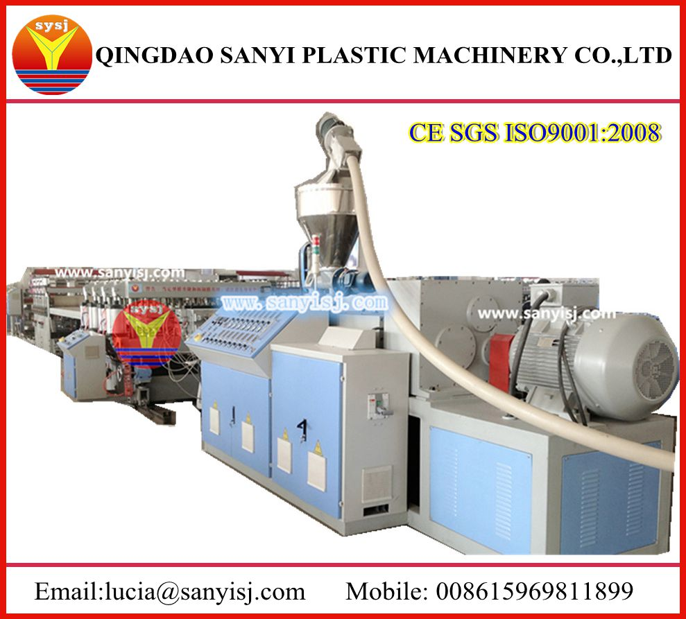 Recycling PVC Plastic Construction Formwork/ Building Template Extruder Machine