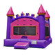 Children funny inflatable bouncer jumper indoor pink inflatable bouncy castle sale